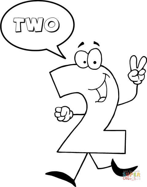 number 2 says two coloring page  free printable coloring