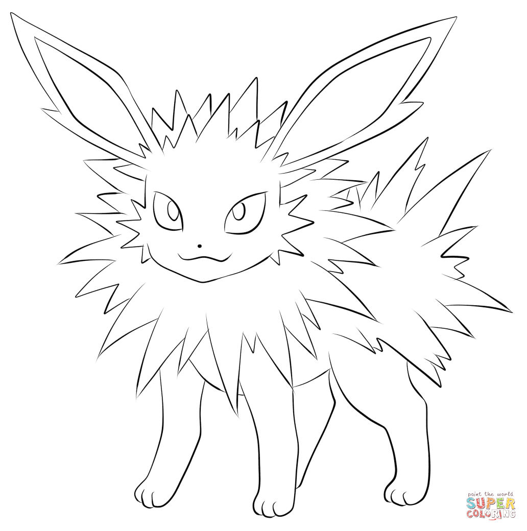 Jolteon Coloring Page