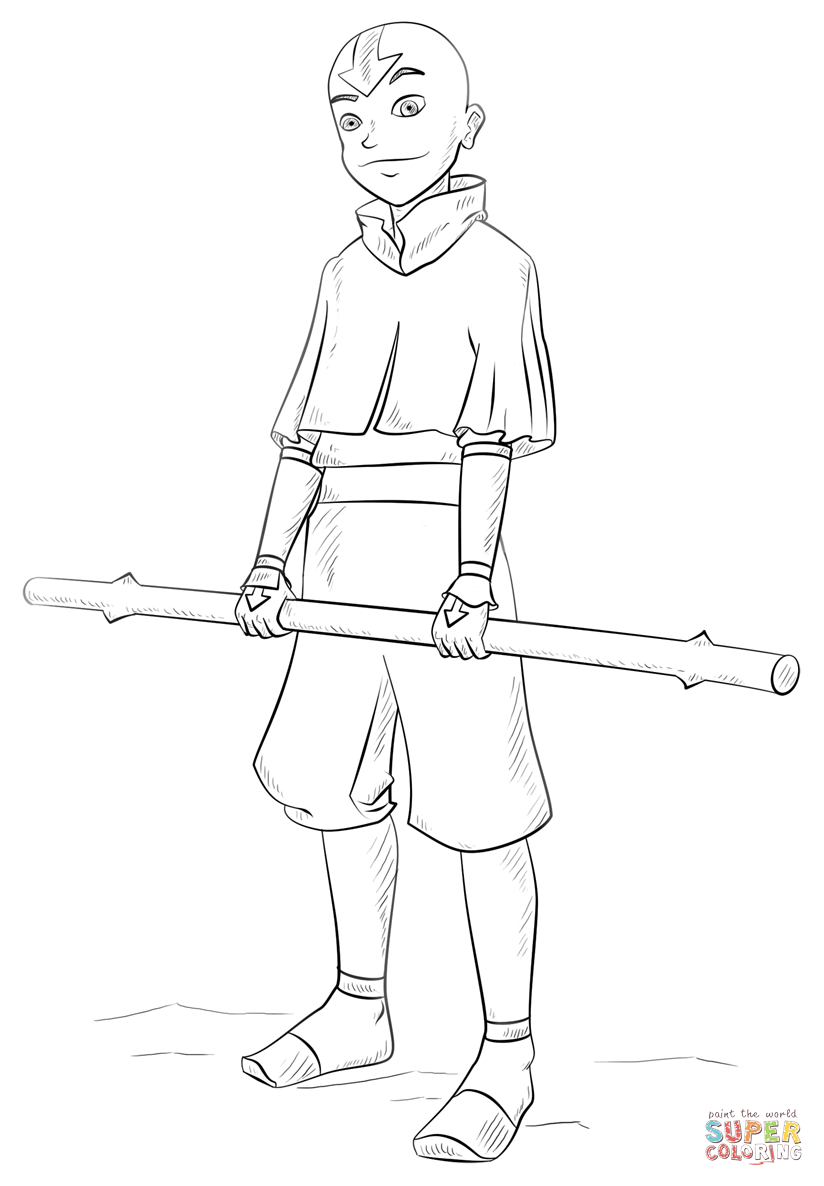 Avatar 20 M Coloring Page Free Avatar The Last Airbender