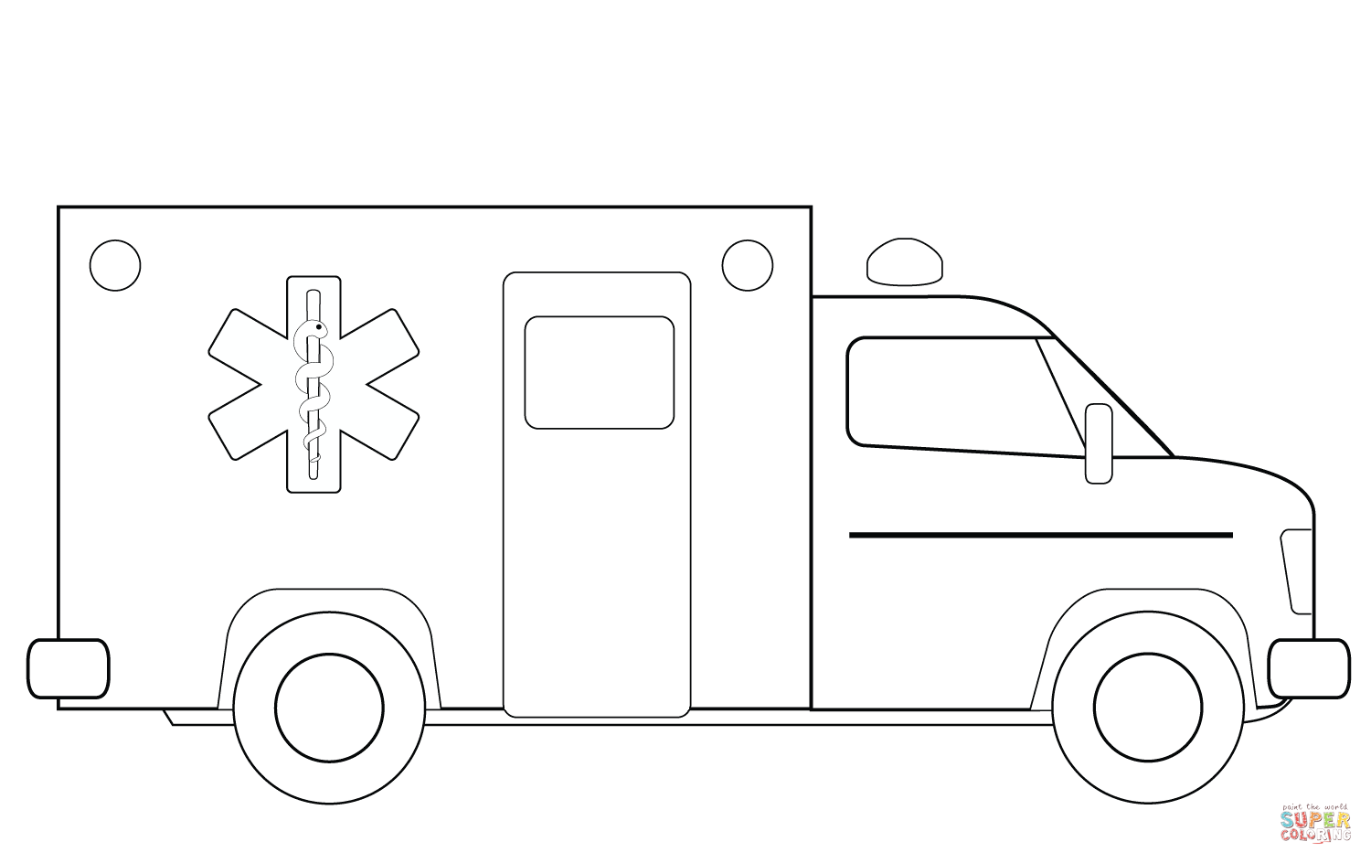 ambulance truck coloring page free printable coloring pages
