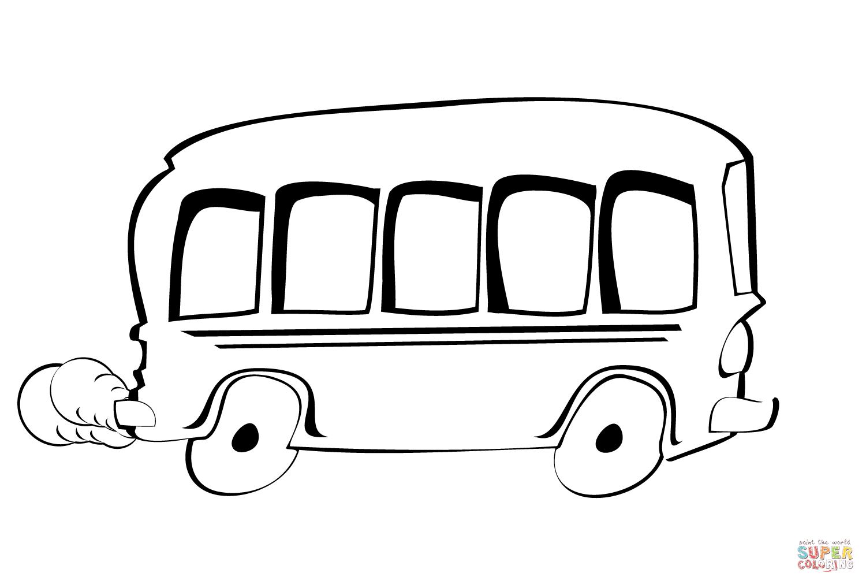 Tekening Bus Kleurplaat
