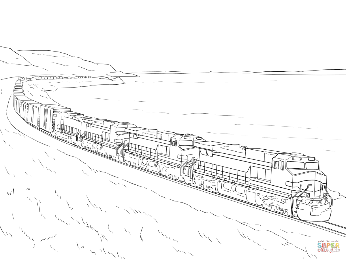 freight train coloring page free printable coloring pages