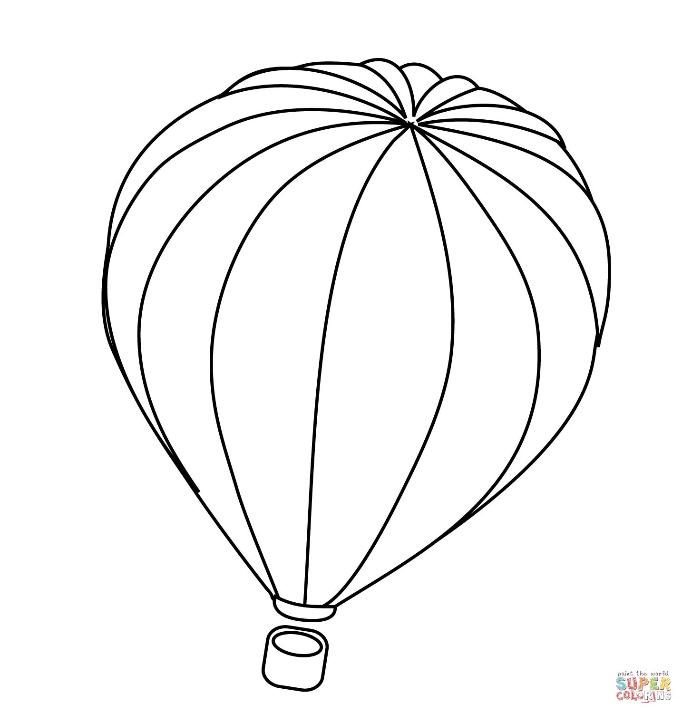 Desenho De Balao De Ar Quente Para Colorir
