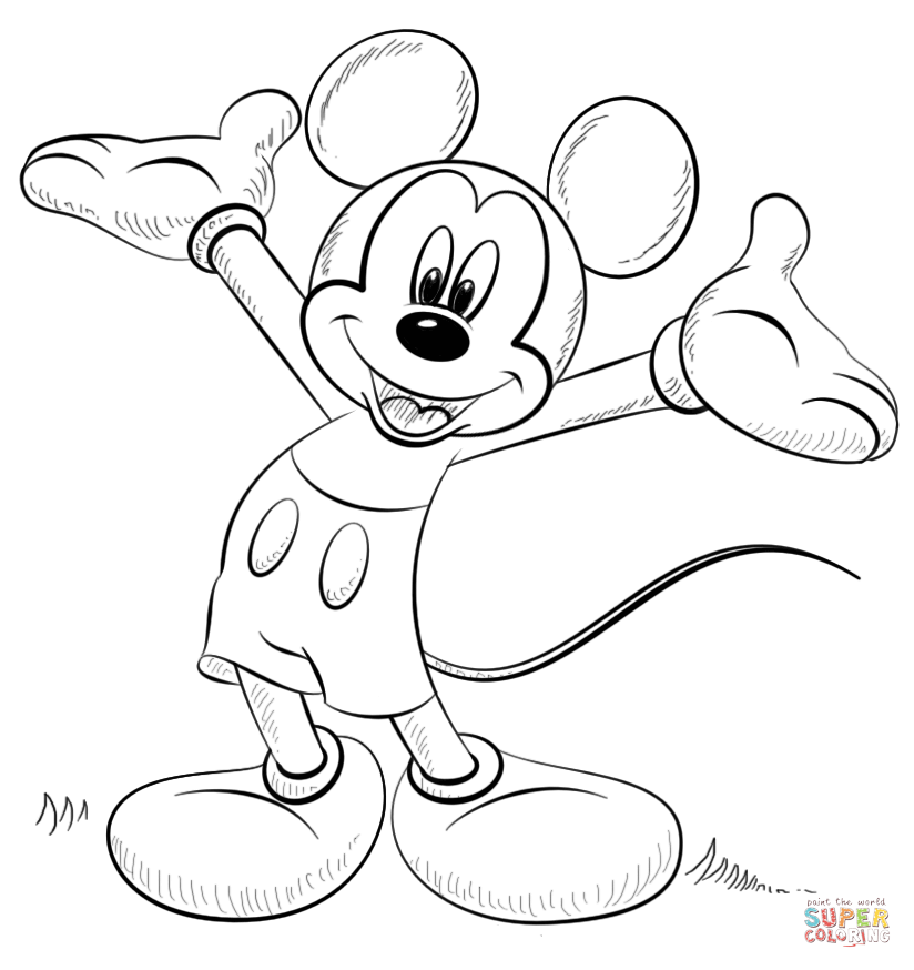 Mickey Mouse Coloring Page Free Printable Coloring Pages