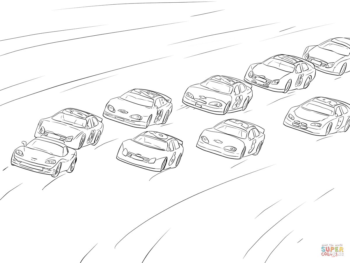 Nascar Racing Coloring Page