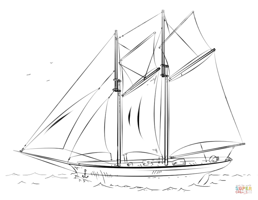 Boat Free Coloring Pages For Kids 12 Pics - Boat And Stream ... | 702x906