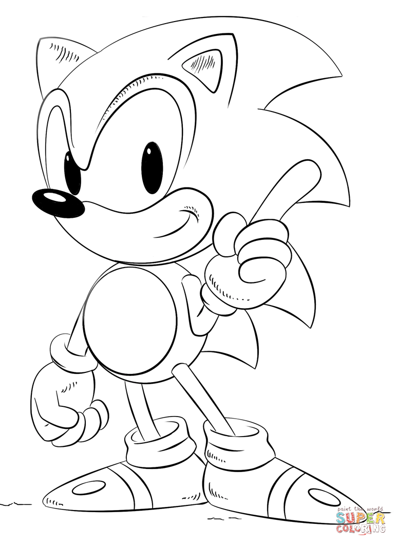 sonic coloring pages free coloring pages