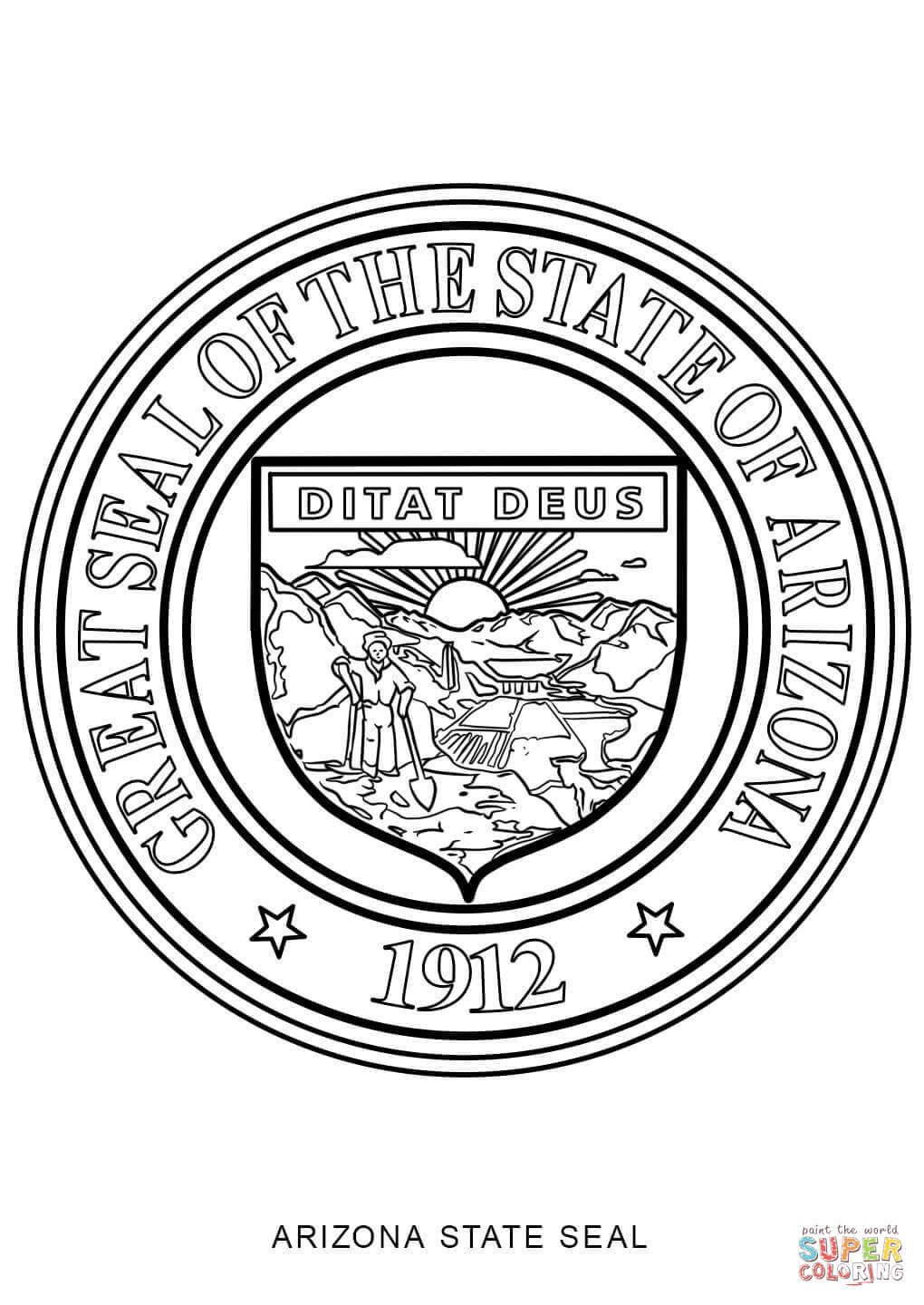 state seals coloring pages - photo#18