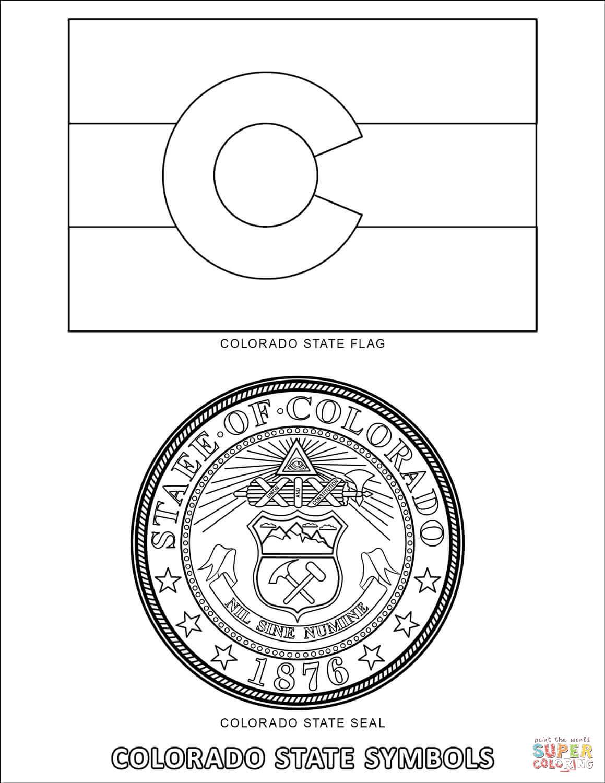 Colorado State Symbols Coloring Page