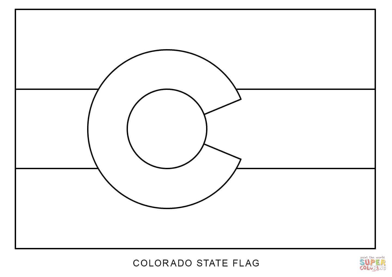 Flag Of Colorado Coloring Page