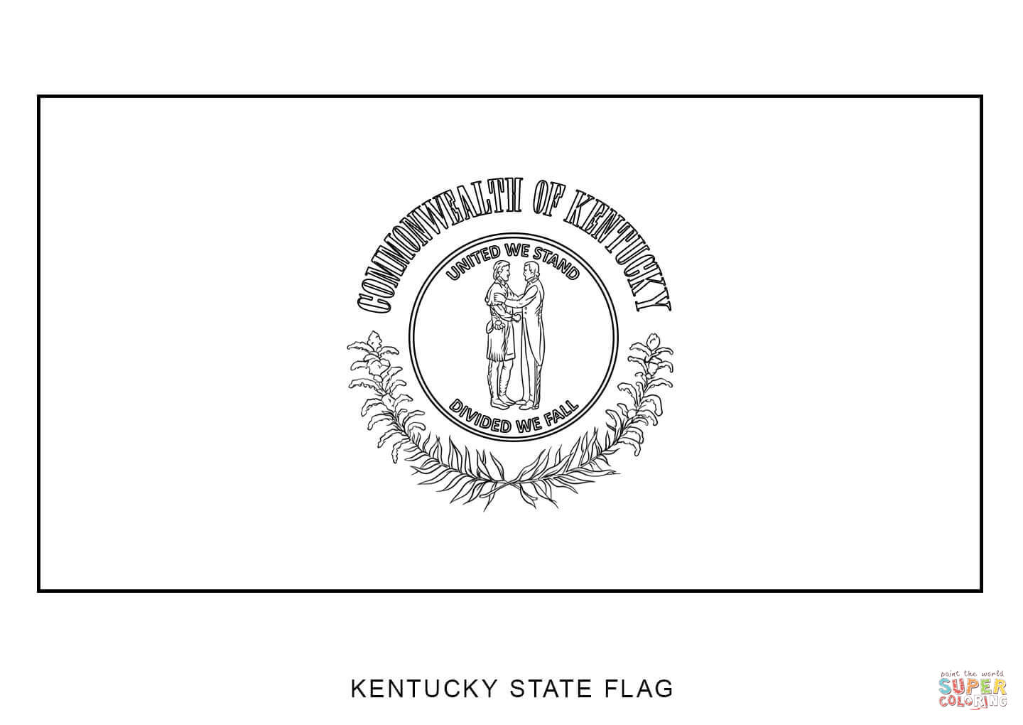 Flag Of Kentucky Coloring Page