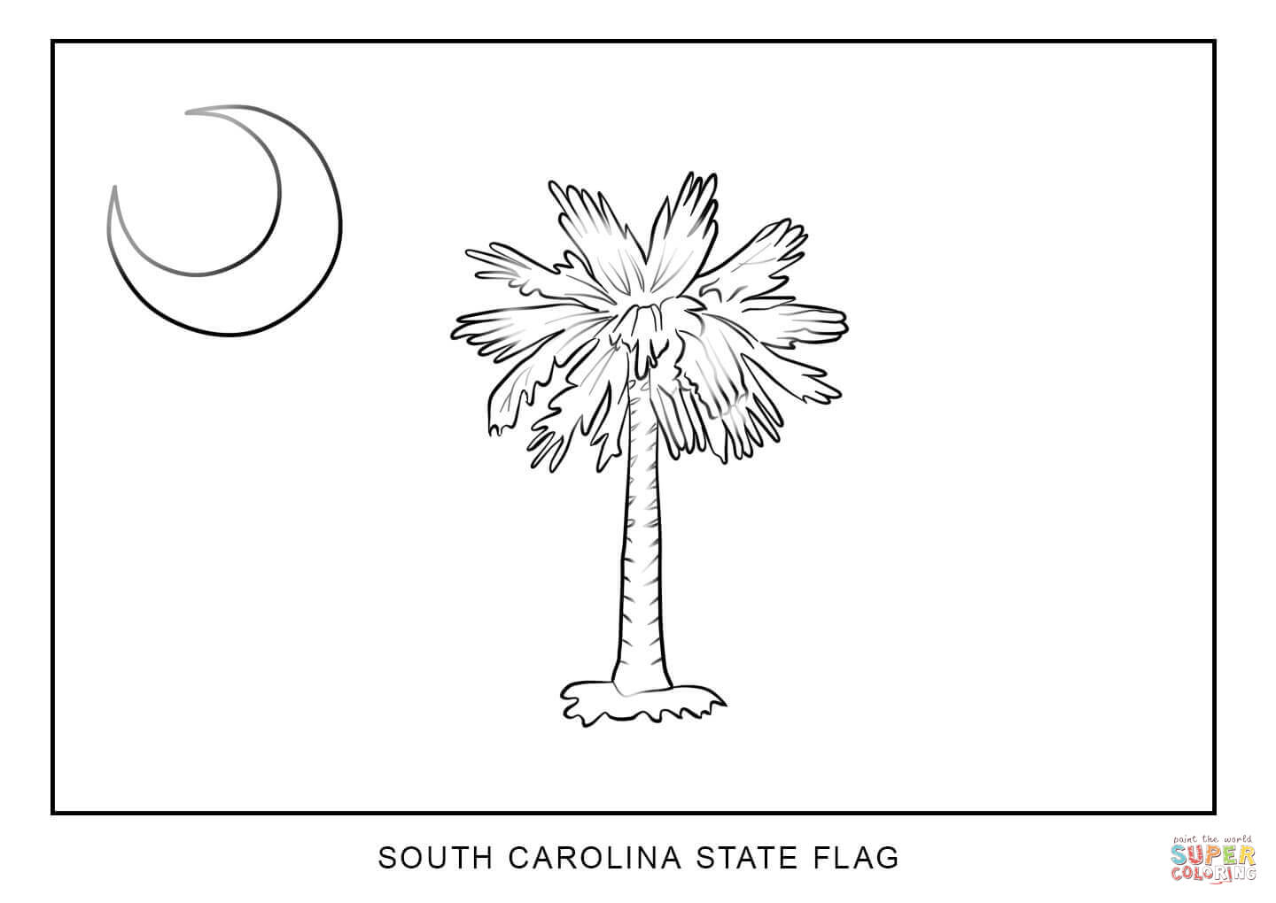 Flag Of South Carolina Coloring Page