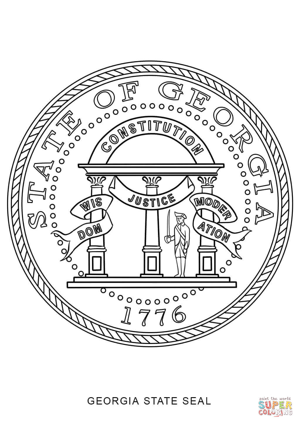 Washington state seal coloring page coloring pages for Arizona state seal coloring page