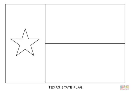 Texas Flag Coloring Page Printable Coloring Page Cartoon