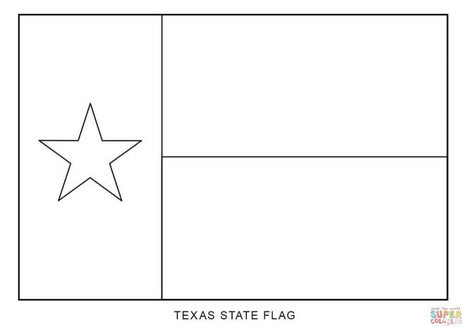 Click The Texas State Flag Coloring Pages To View Printable