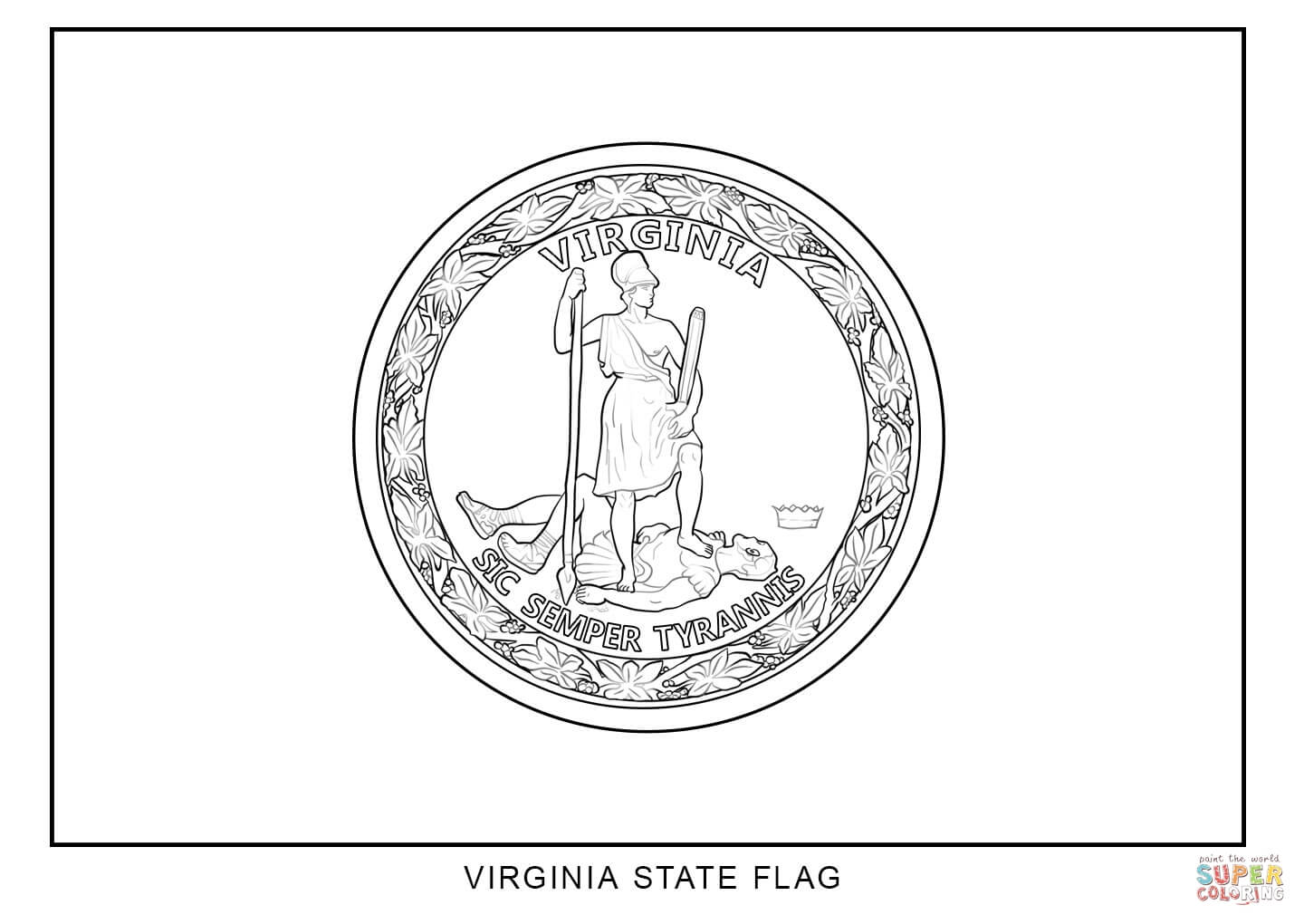 Virginia States Worksheet Label