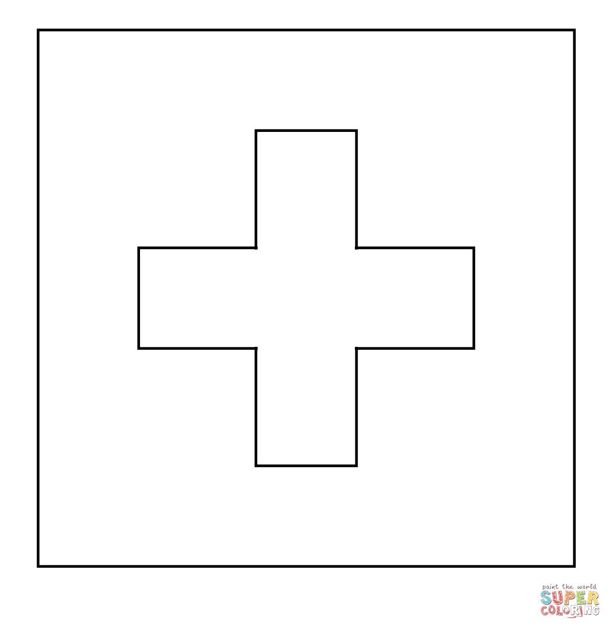 dibujo de bandera de suiza pantone para colorear dibujos para