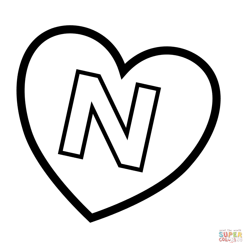 Letter N Coloring Pages Free Coloring Pages