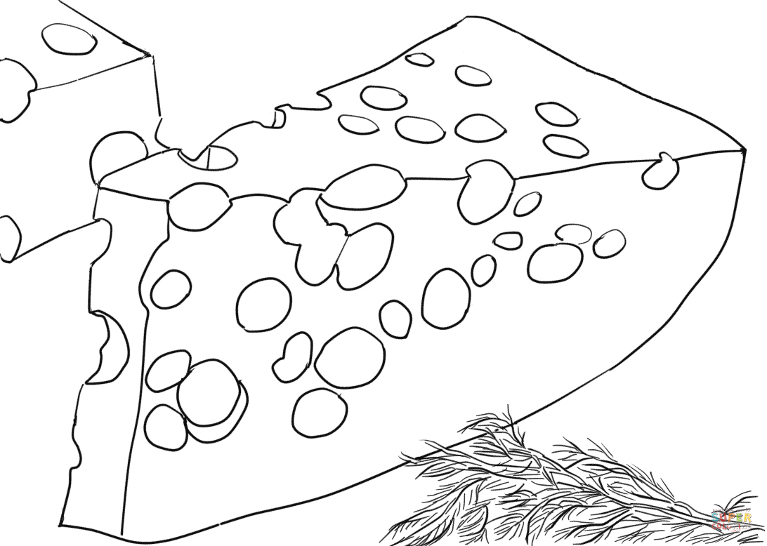 Swiss Cheese Coloring Page