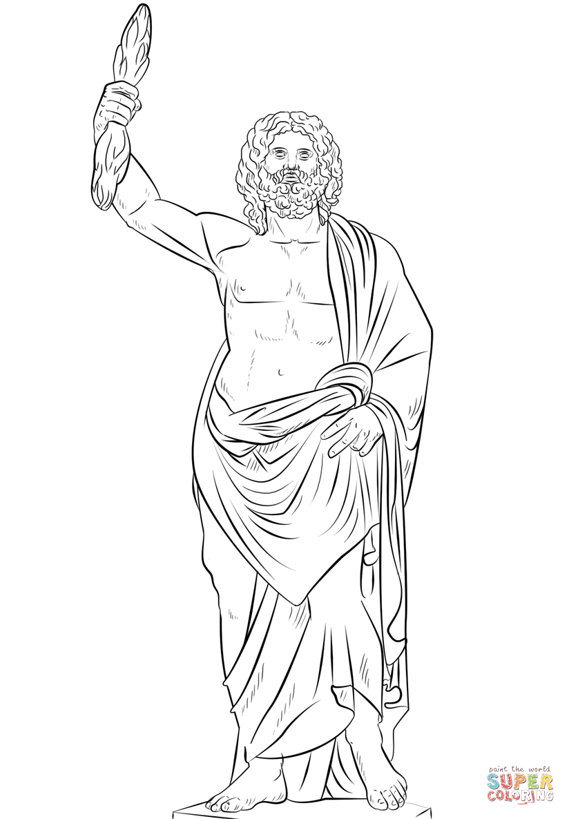 Zeus Greek God Coloring Page Free Printable Coloring Pages