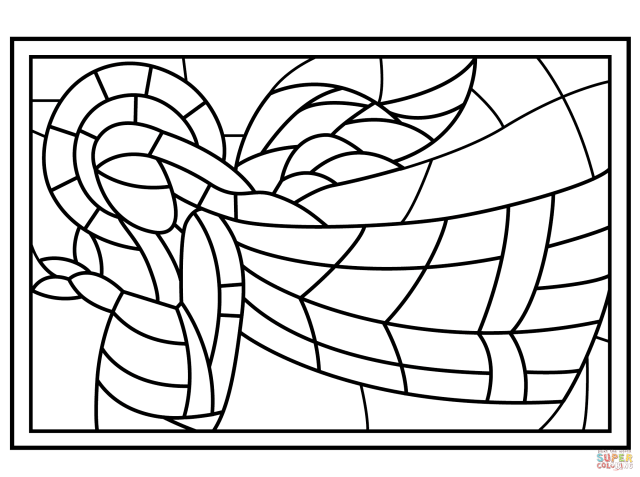 Stained Glass coloring pages  Free Coloring Pages