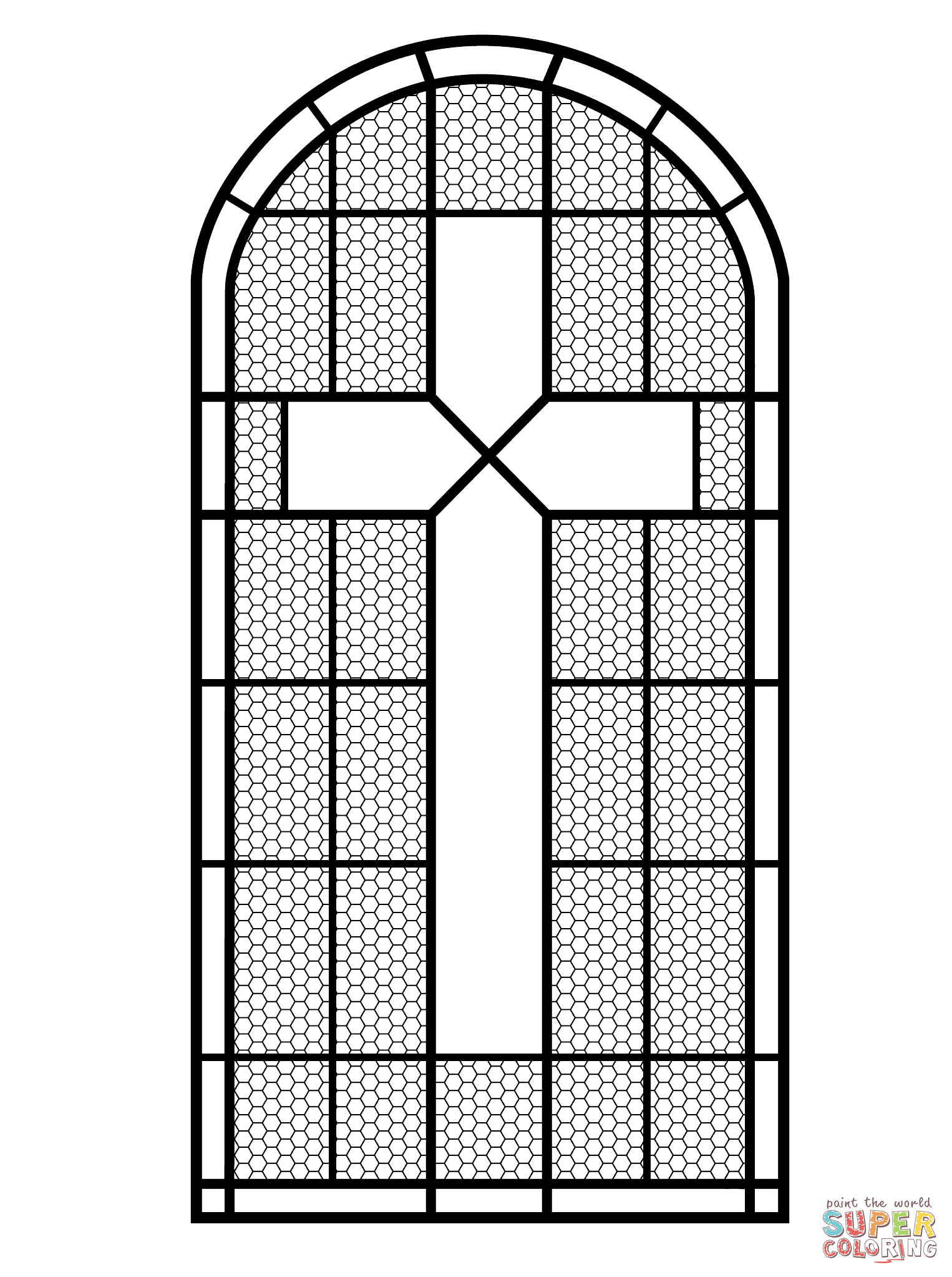 stained glass window free printable pages