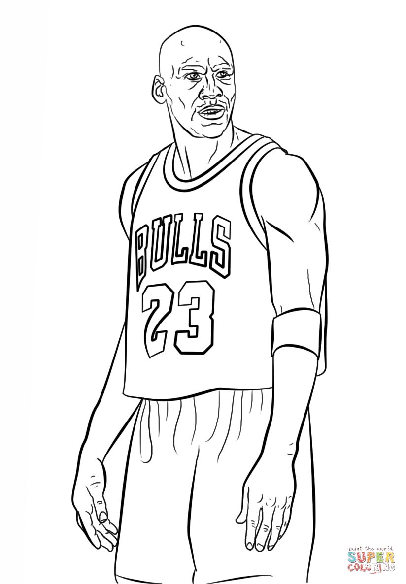Free Coloring Pages Download : Michael Jordan Coloring Page Free Printable Coloring  Pages Of Basketball Player