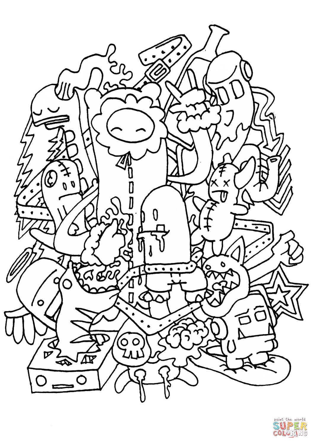 Doodle Rocking Coloring Page Free Printable Coloring Pages