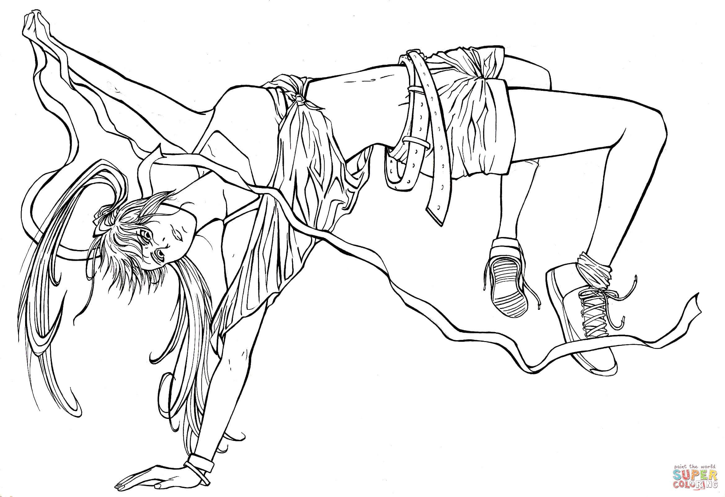Ringo Noyamano From Manga Air Gear Coloring Page Free