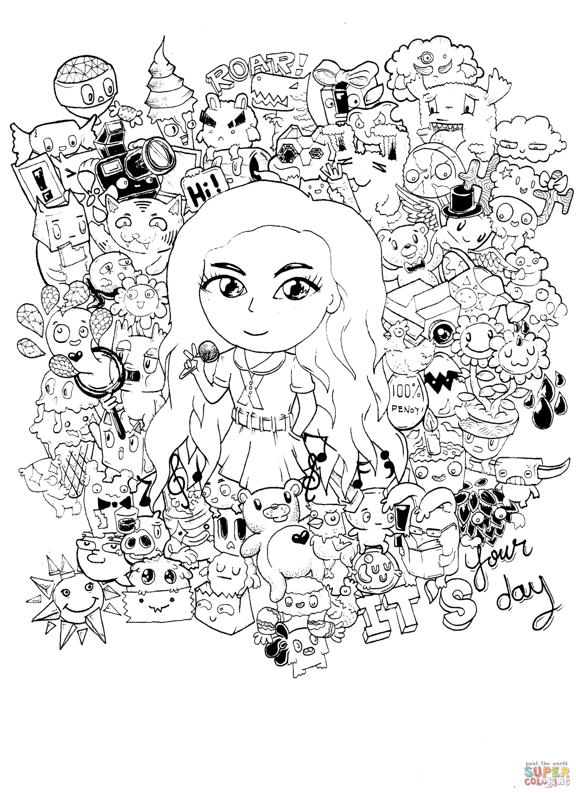 Gorgeous Doodle By Kent Sunglao Coloring Page Free