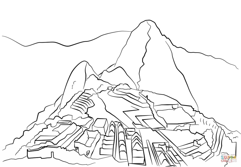 Machu Picchu Coloring Page
