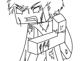 Dibujos De Minecraft Para Dibujar En Hoja Cuadriculada On