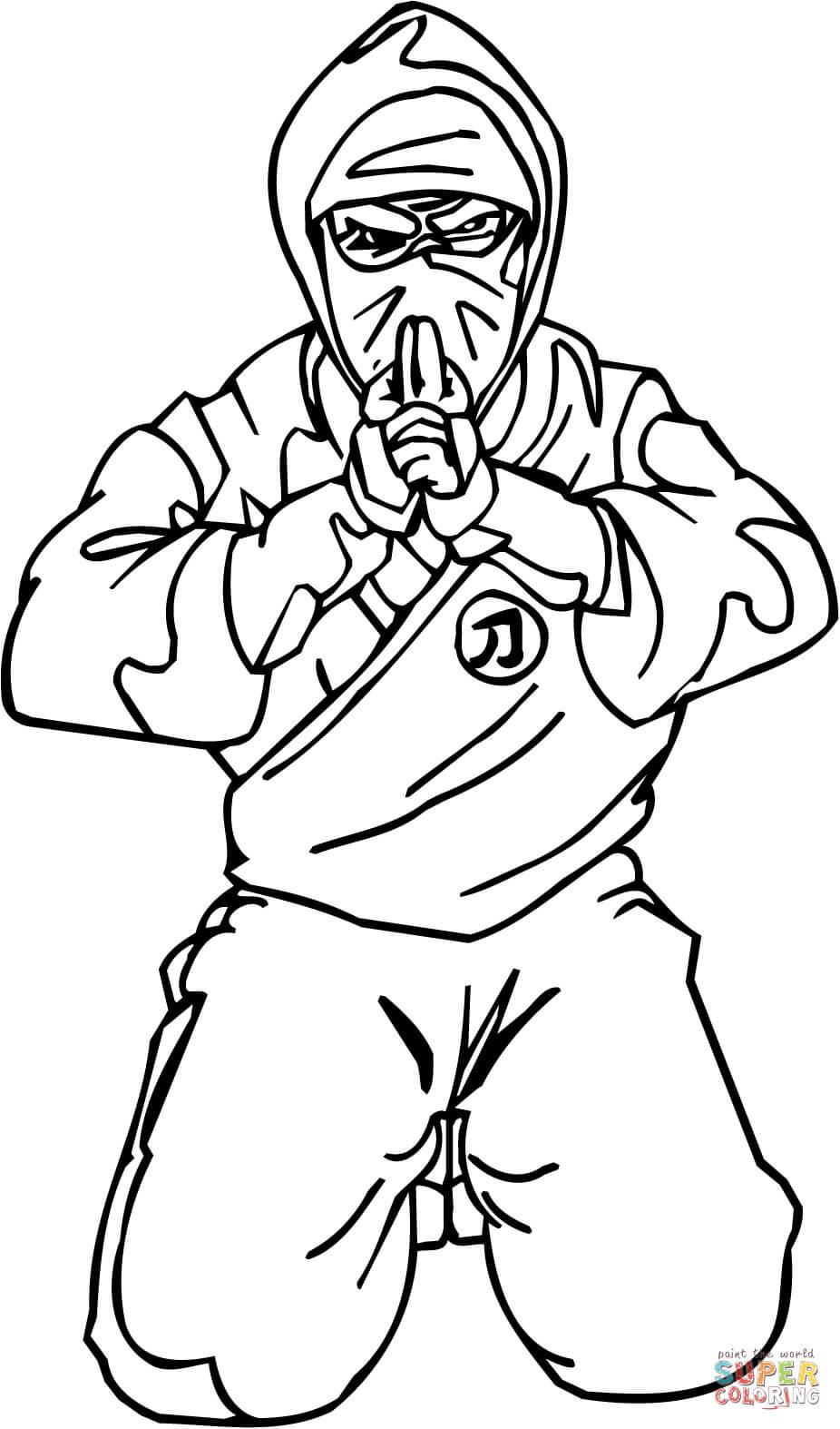 Ninja Shinobi Coloring Page Free Printable Coloring Pages