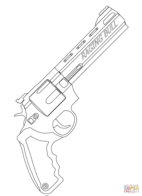 Disegno Di Revolver Raging Bull Da Colorare