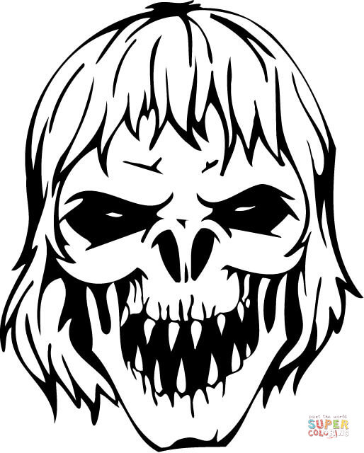 Skull Coloring Pages | Skull coloring pages, Fairy coloring pages ... | 640x514