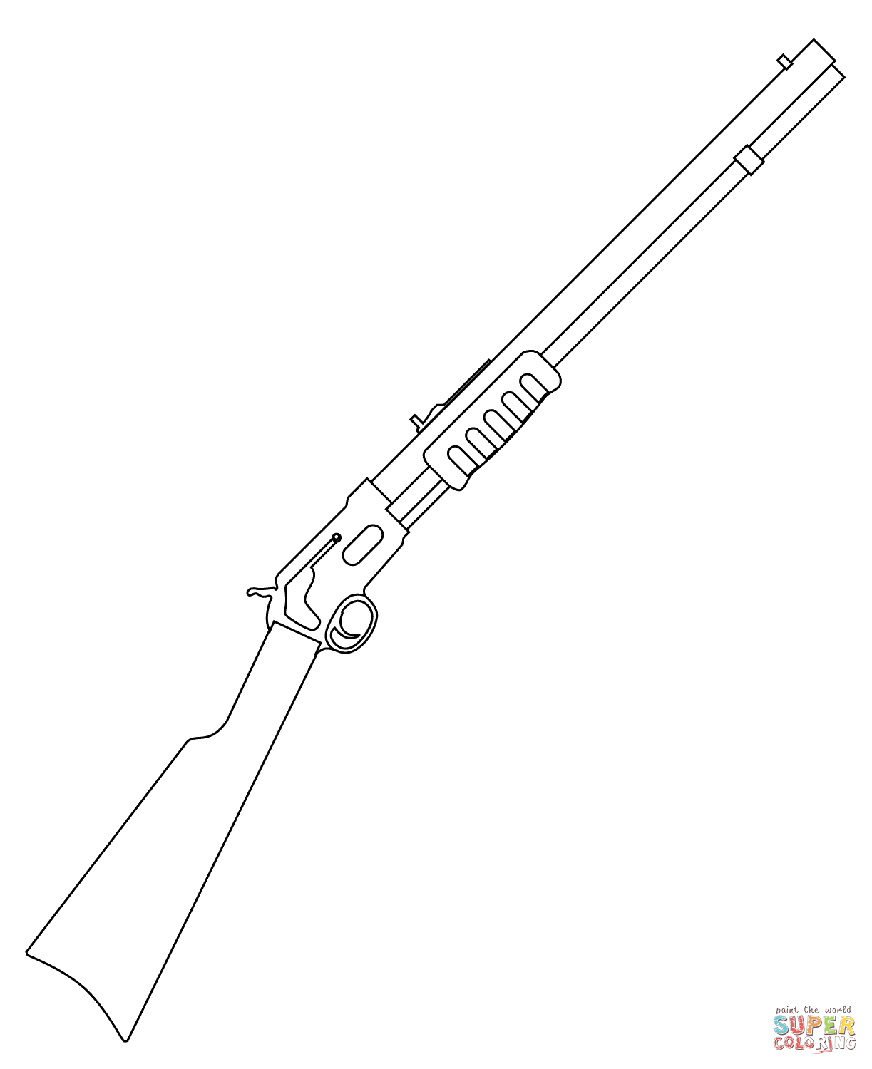 Guns Coloring Pages Free Coloring Pages