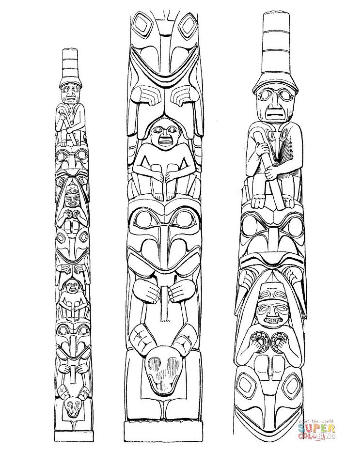 Template Fish Totem Pole