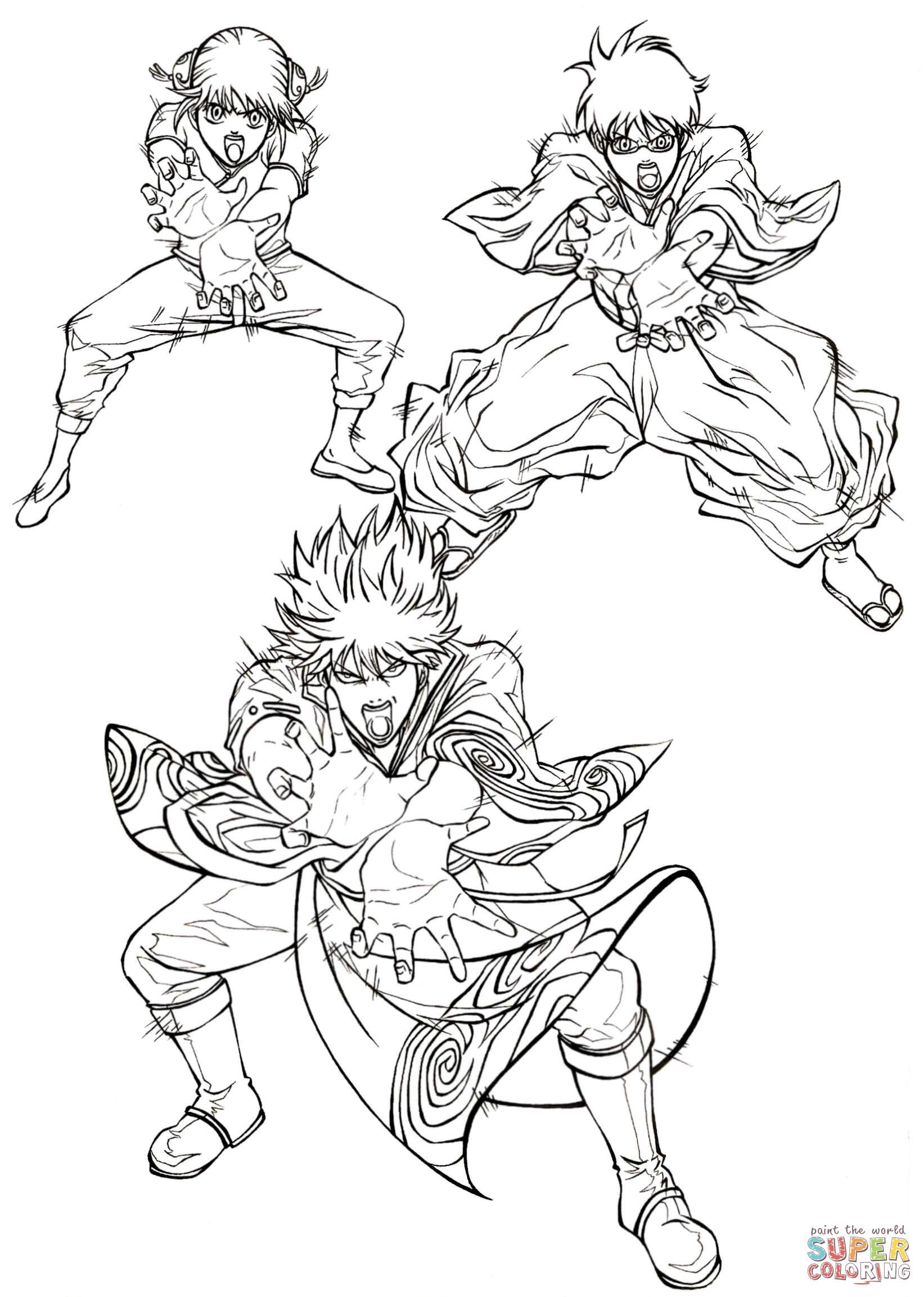 Kagura Shimura Shinpachi And Sakata Gintoki Kintoki XD