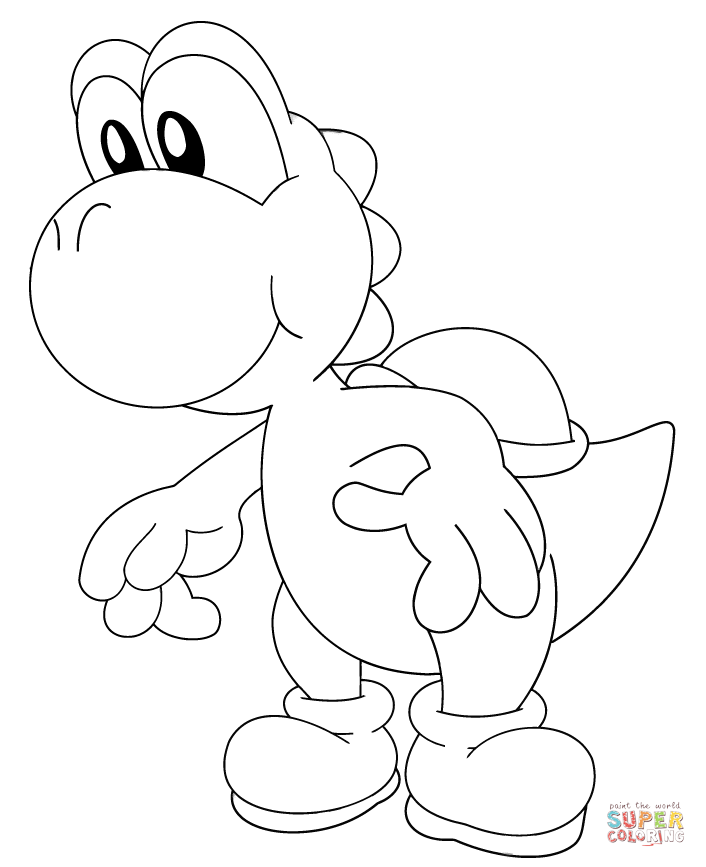 baby yoshi coloring page free printable coloring pages