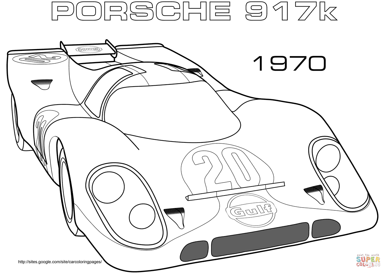 Ausmalbild Porsche 917k