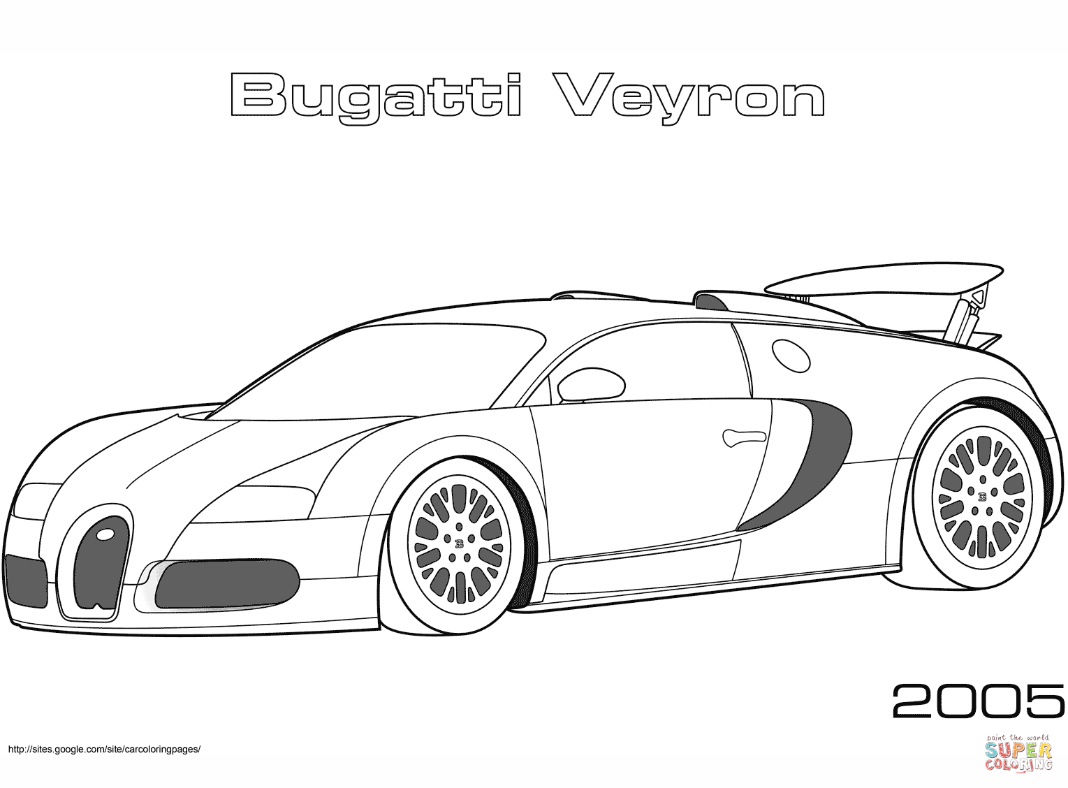 2005 Bugatti Veyron Coloring Page Free Printable Coloring Pages