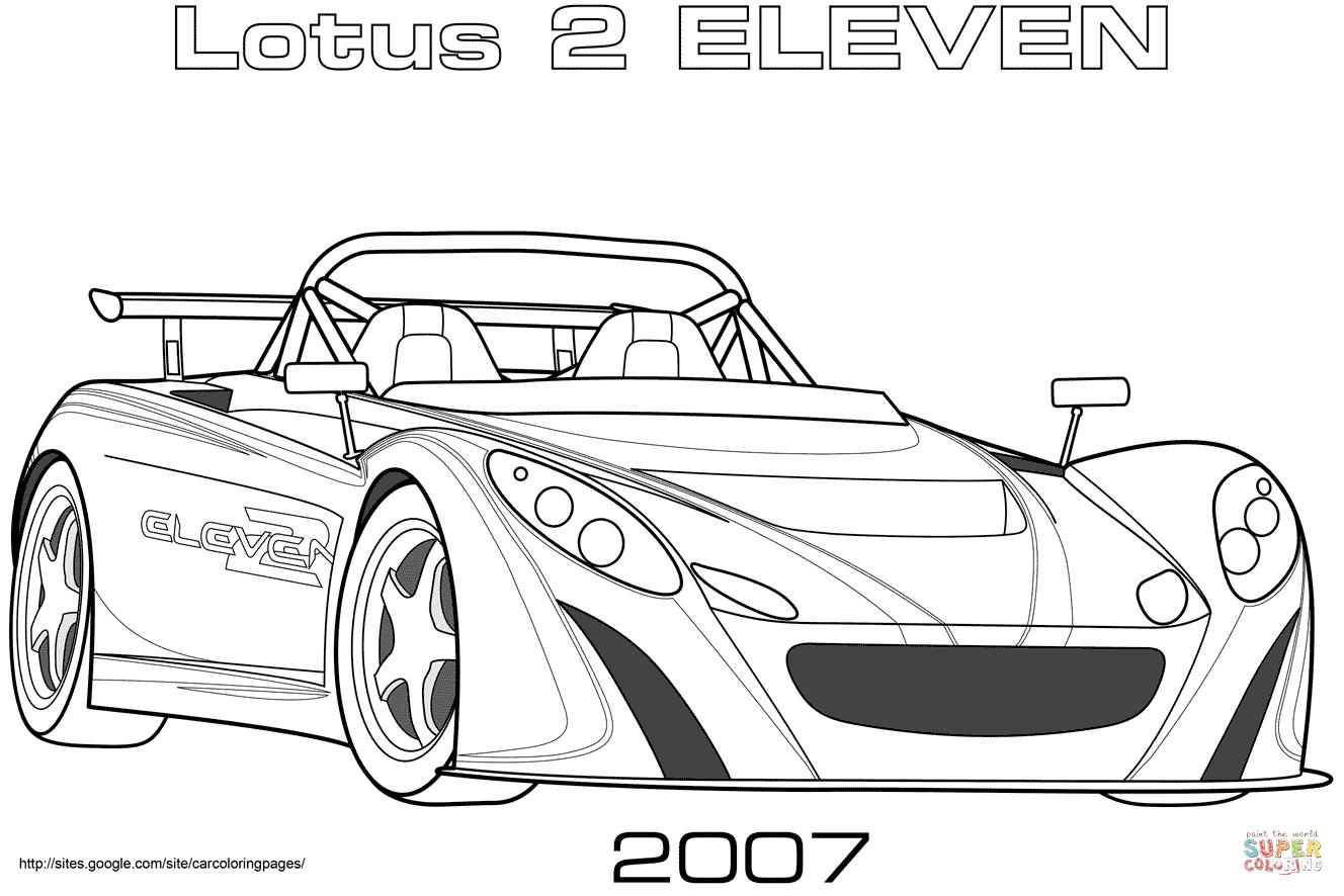 Kolorowanka Lotus 2 Eleven