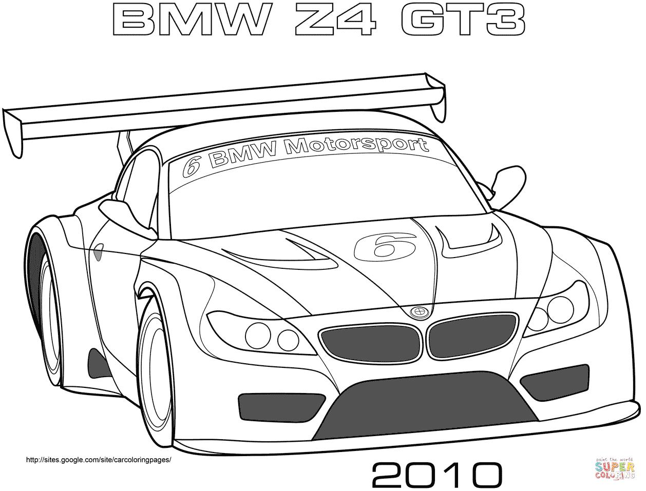 Ausmalbild Bmw Z4 Gt3