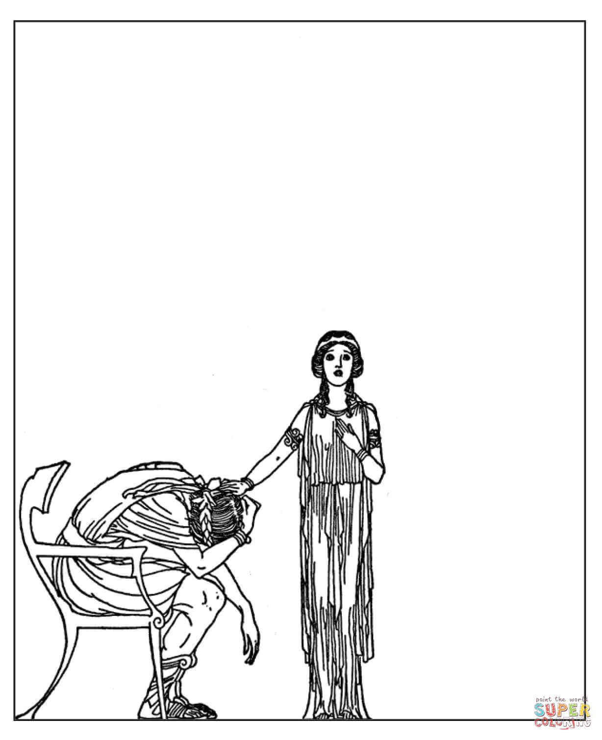 Admetus And Alcestis Coloring Page Free Printable