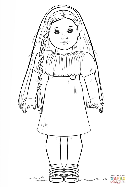 american girl doll julie coloring page | free printable