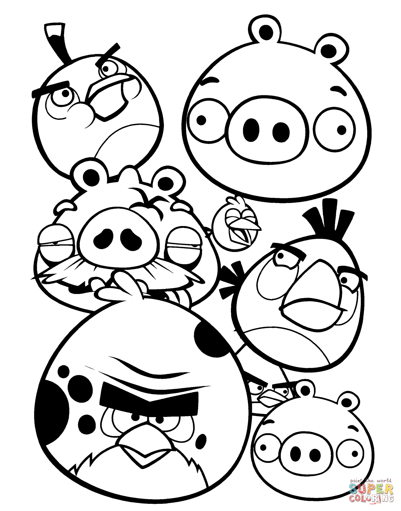 Star Wars Angry Birds Pigs Coloring Pages 2