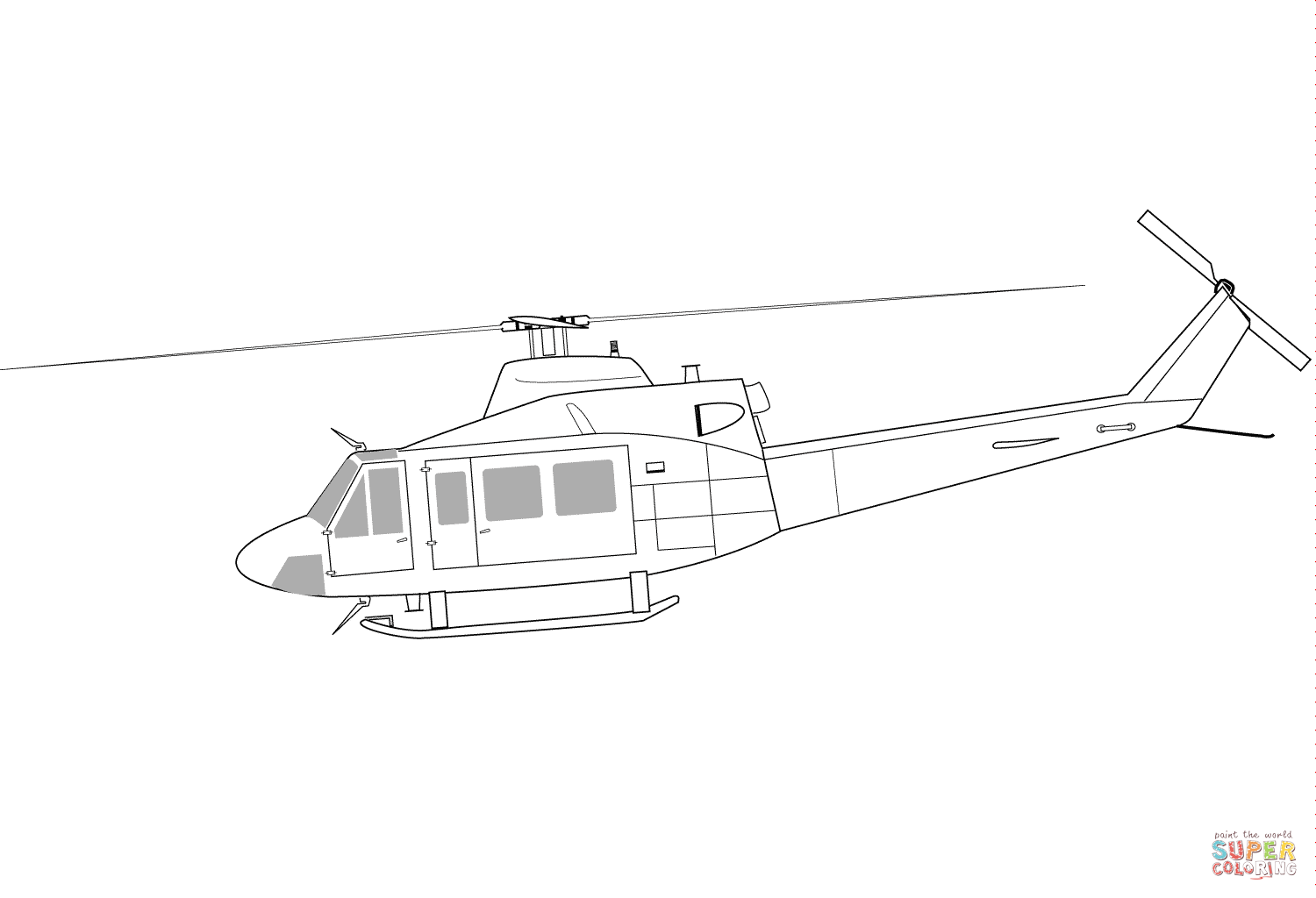 Rc Helicopter Parts Diagram Sketch Coloring Page