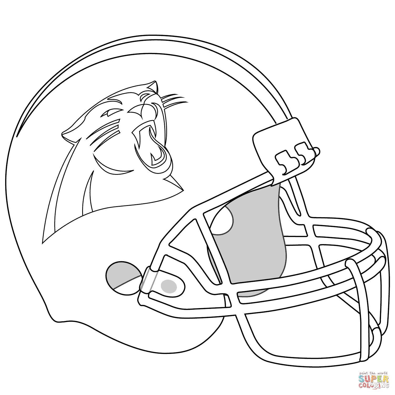 Ausmalbild Carolina Panthers Helm