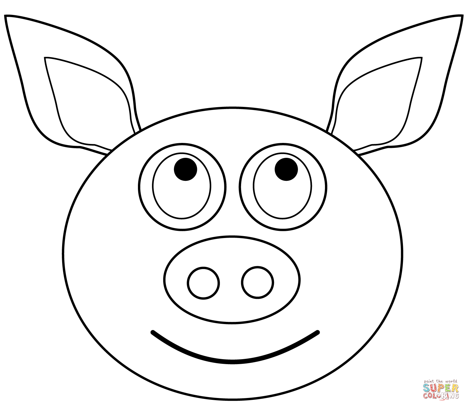 Pot Bellied Pig Coloring Pages
