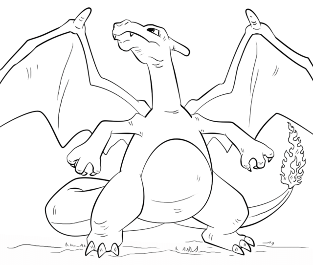 Charizard Pokemon Coloring Page Free Printable Coloring Pages